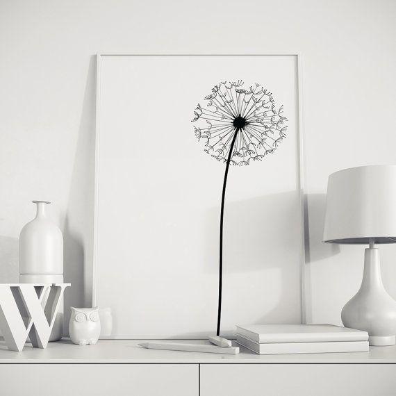 Dandelion Modern Abstract Wall Art Printable by NordicPrintStudio