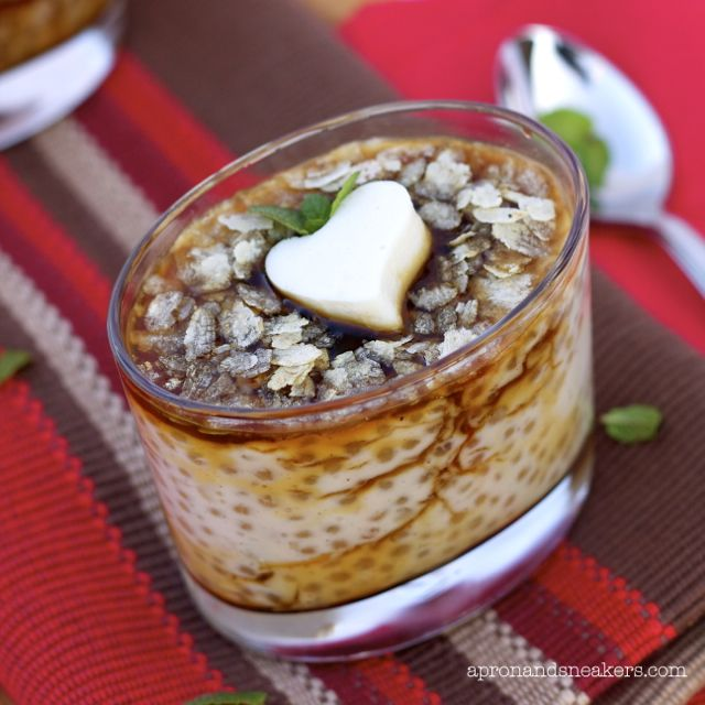 Apron and Sneakers - Cooking & Traveling in Italy and Beyond: Tapioca with Rum Caramel Sauce & Almond Jelly (Guinomis)