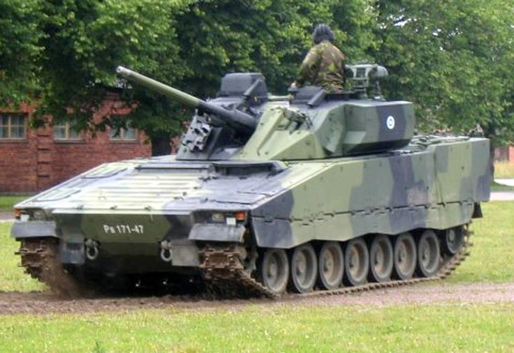 Picture of the Combat Vehicle 90 / Stridsfordon 90 (CV90 / Strf 90 The Swedish CV90 Infantry Fighting Vehicle has seen combat service in Afghanistan with coalition forces and in UN work in Liberia.