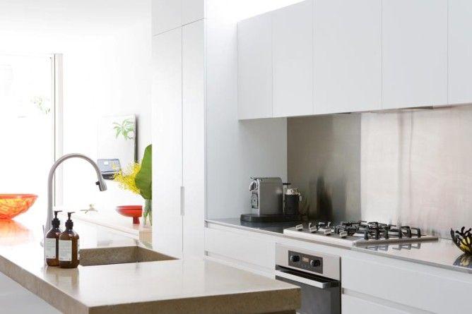 T01 Architecture - Projects - Paddington kitchen - modern - contemporary - kitchen island natural palette kitchen sink