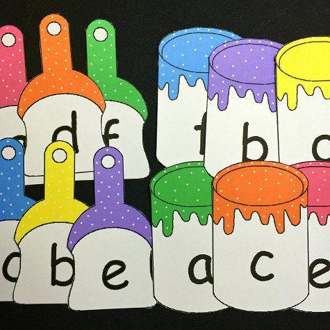 Paint Brush Number Match For Preschool and Kindergarten