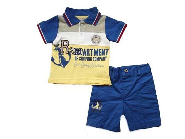 Çapa Baskılı Lakost Bebe Takım (83276) - Bebek Giyim | Cimcime Bebe