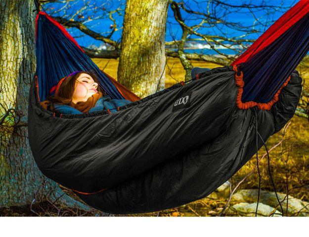 An insulated hammock. | 42 Insanely Clever Products You Need For Your Next Camping Trip