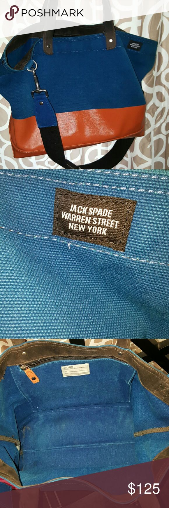 Jack spade bag Slight wear on bottom....picture shown. Overall good condition Jack Spade Bags Messenger Bags