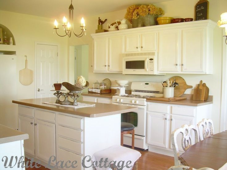 Kitchen, Painting Kitchen Cabinets White Distressed Kitchen 4: The Idea Of  Kitchen Cabinet In Part 40