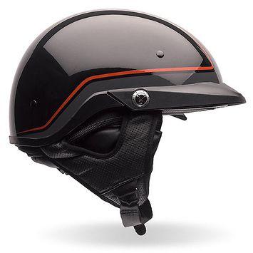 Bell Pit Boss Pinstripe Orange/Black Half Helmet