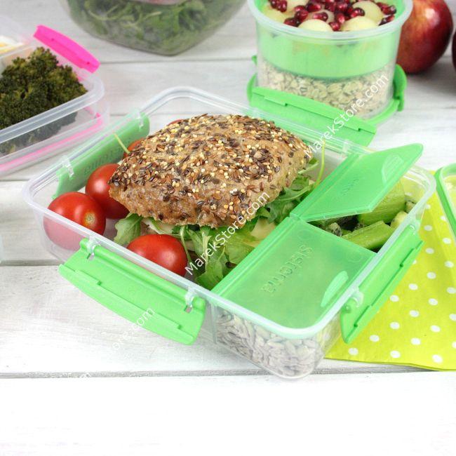 Trójkomorowy hermetycze pudełko śniadaniowe lunch box SISTEMA TO GO | Sistema | 21,99 zł