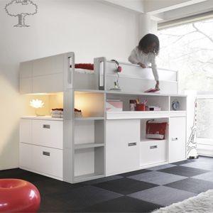 Gautier wit dimix bed kinderkamer pinterest bedden hoogslapers en kinderkamers - Bed voor kleine jongen ...