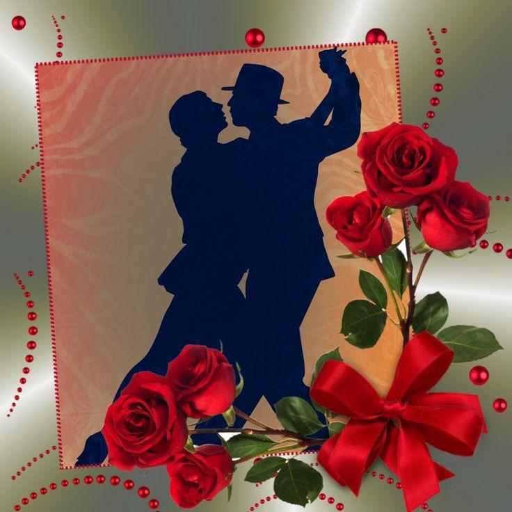 #CALARTNZ: Red roses frame this couple enjoying a romantic Tango dance.