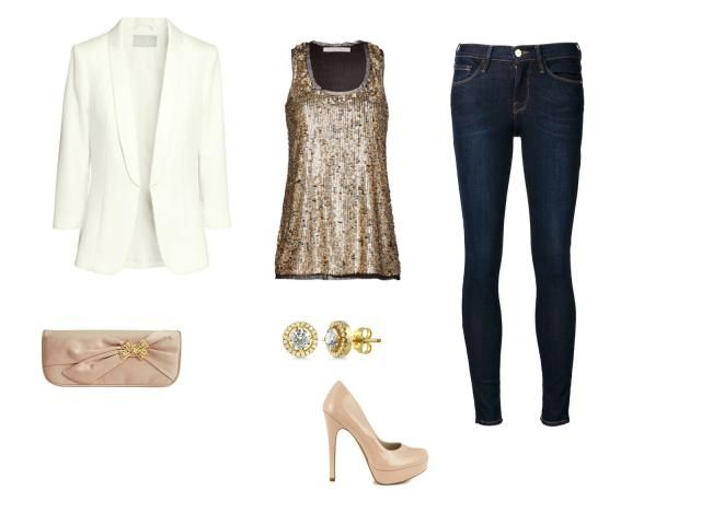 Holiday Style - Office Holiday Party Outfit - Sequin Top and Skinny Jeans