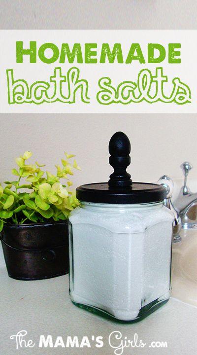 Homemade Bath Salts...Love this idea!