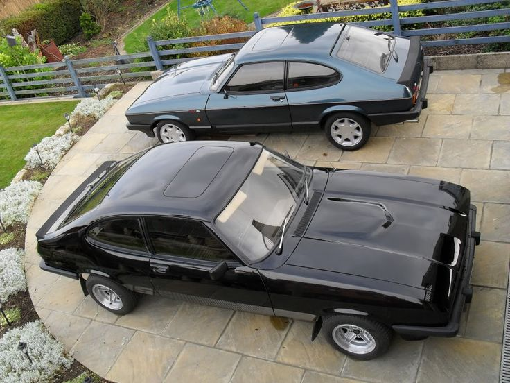 Ford Capri MK3s, a Black 3.0 S and a Brooklands 280 special.