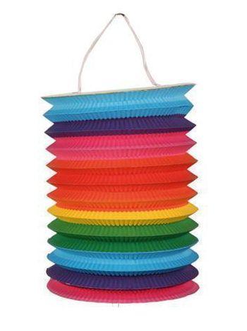 Gekleurde treklampion regenboog 15 cm. Multi color treklampion met regenboog kleuren. Ongeveer 15 cm groot.