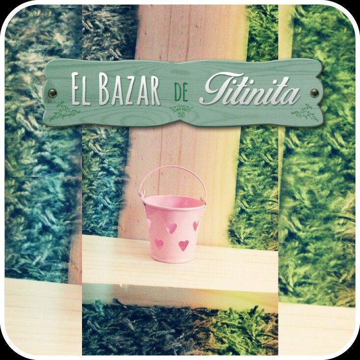 Baldecito Rosa corazones que calan ♡♡♡  Encuéntralo en www.elbazardetitinita.cl Sección tetería.