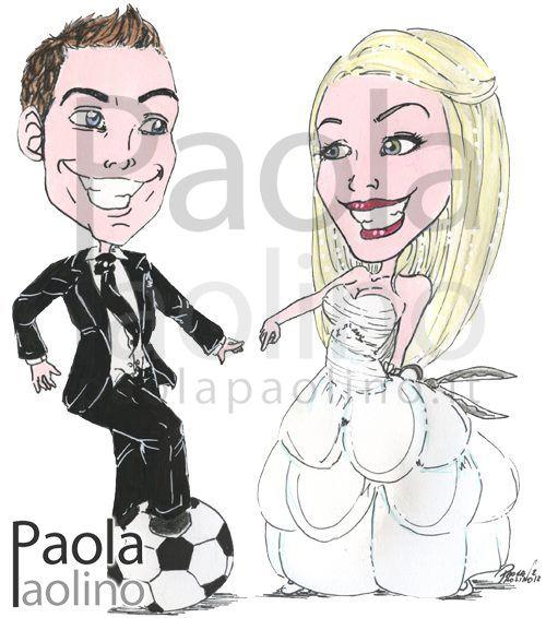 caricatura-sposo-calciatore-sposa-parrucchiera.jpg (500×566)