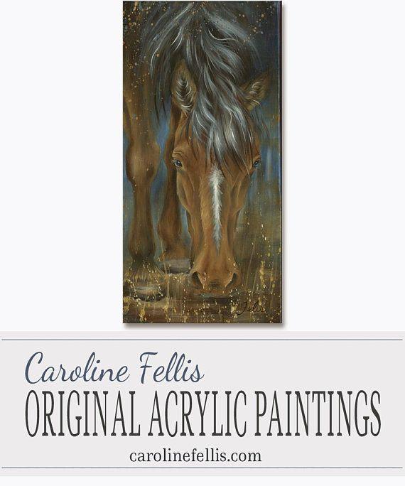 Horse head Acrylic Painting Original artwork Joshua by