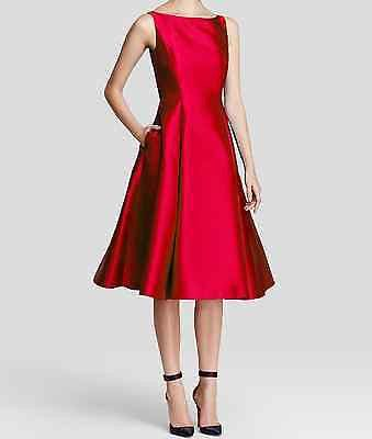 Last One Adrianna Papell Tea Length Valentine Red Fit & Flare Dress 14