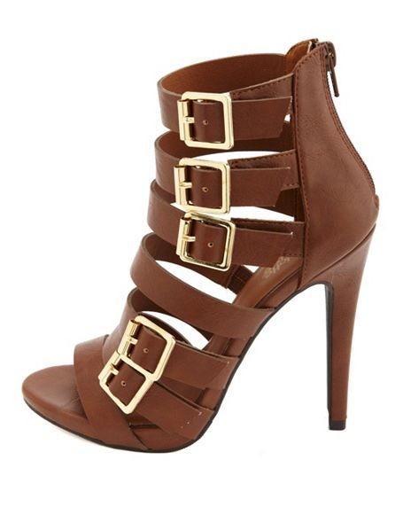 CHARLOTTE RUSSE                                                                                                                              Strappy Belted High Heel Booties                                                                                                                             ᖽ•Ꮰ੬ℕട❜̋ᗷѳꂷɬίǪṳ̈ℯ•ᖾ