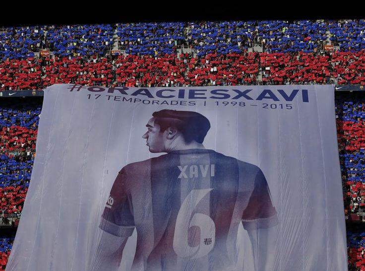 Espectacular mosaico dedicado a Xavi