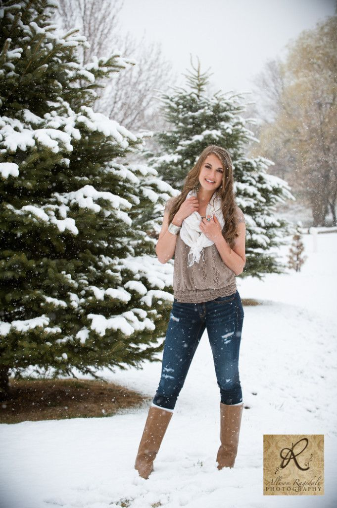 Snow Picture. I would be a little smarter though and wear a sweater