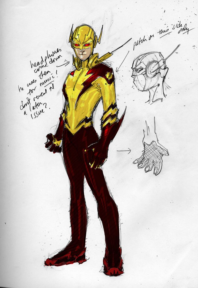 Kid Flash Full Color Jim Lee Comic Art Community GALLERY OF COMIC