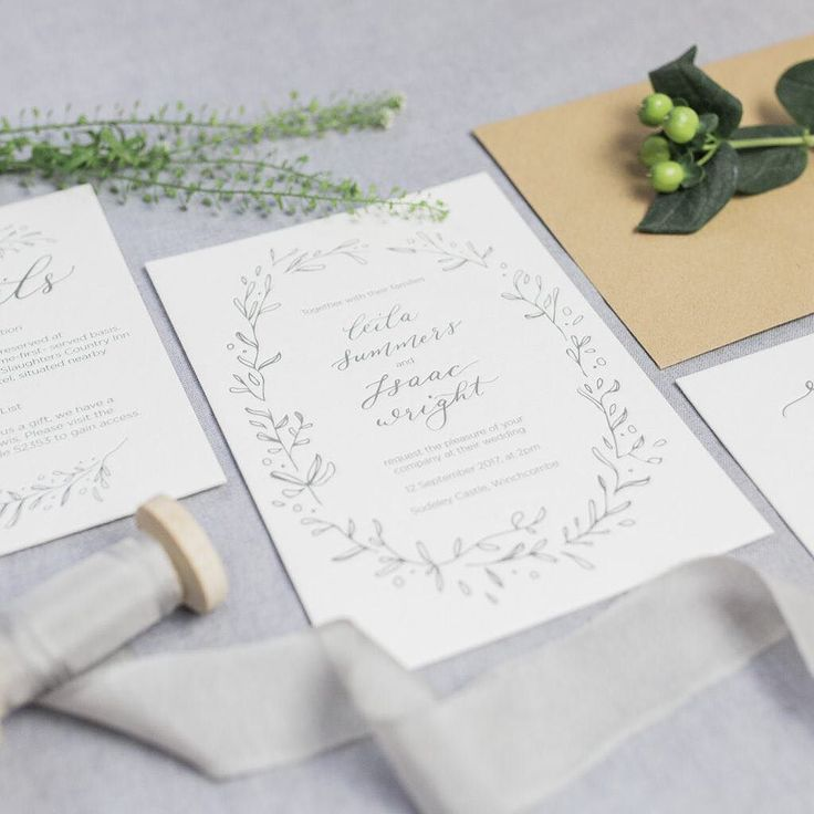 Add a little luxury to your wedding invitations with letterpress stationery by @awwcalligraphy - we love this 'Spring Leaves' design it's perfect for summer brides.   Photograph by @bethanystanley_