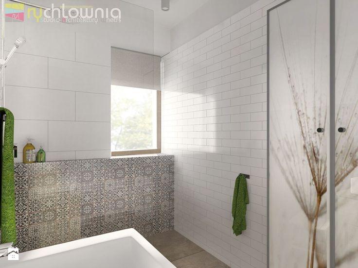 """łazienka w mozaice - zdjęcie od Studio Architektury Wnętrz """"rychtownia"""""""