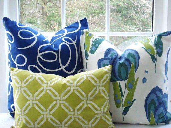 love the swirly blue fabric