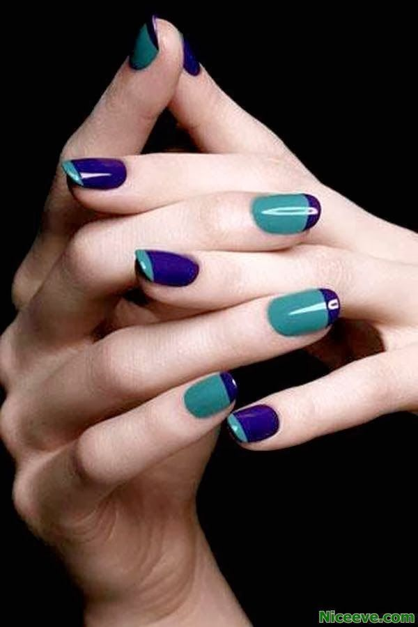 Colored French Manicure nail art designs 2014. Get the Look at Polished Nail Bar www.Facebook.com/NailBarPolished #Milwaukee #Brookfield