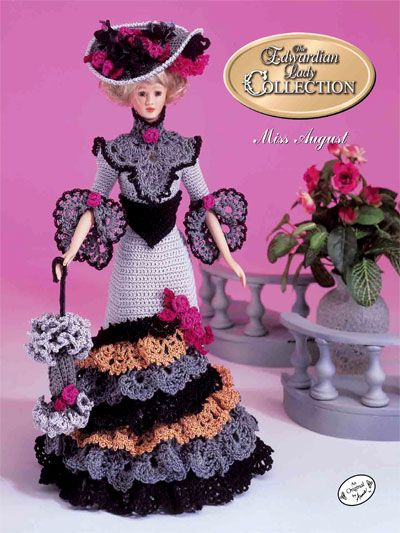 Crochet - Doll Patterns - Doll Clothes Patterns - The Edwardian Lady Afternoon Visiting Costume Miss August 1996