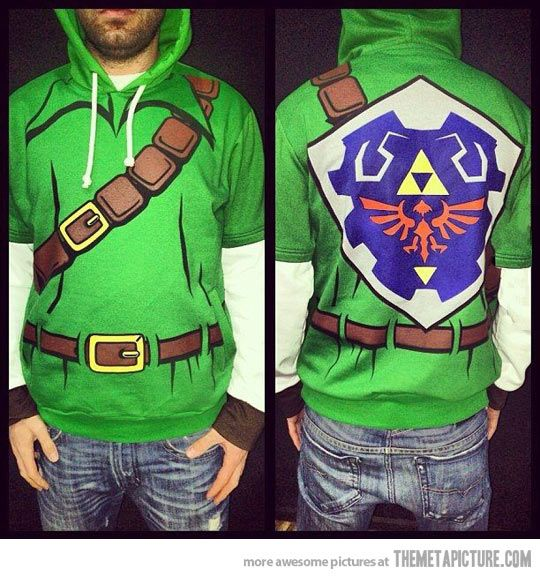 The Legend of Zelda Hoodie. I'm not into Zelda but I know a lot of people that are and this sweater is well done!
