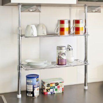 bremermann® Telescopic Kitchen Storage with 2 shelves