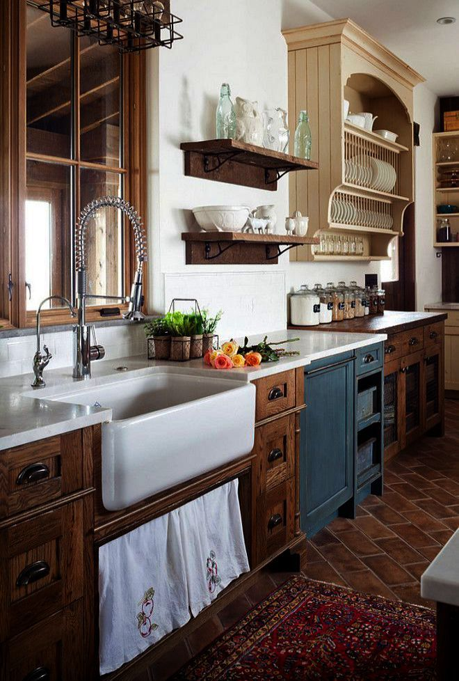 Granite Top Kitchen Cart Natural Base The Furniture Blogger Trendy Farmhouse Kitchen Farmhouse Kitchen Design Rustic Kitchen Cabinets