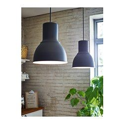 IKEA - HEKTAR, Pendant lamp, , This lamp gives a pleasant atmosphere for dining, spreading direct light across your dining or bar table.