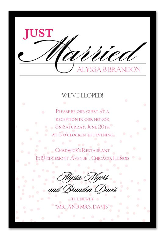12 best tina bobbys wedding images on pinterest elopement just married confetti wedding invitations by invitation consultants item ic rlp stopboris Image collections