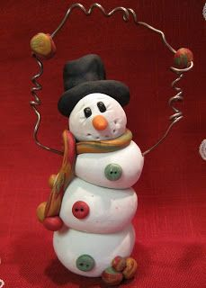 Angela Anderson Art Blog: Polymer Clay Snowmen - Kid's Art Class