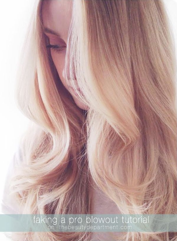 This particular curling iron will change a long-haired gal's life. It's the best way to fake a pro blowout {and save a little arm strength!}.