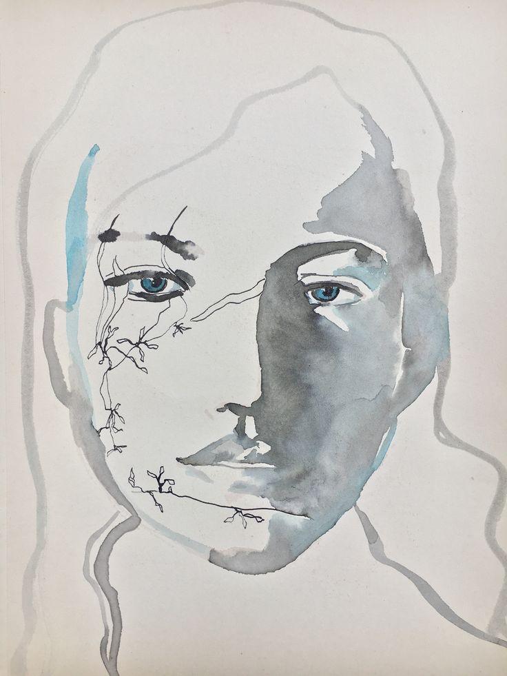 portrait blue eyes