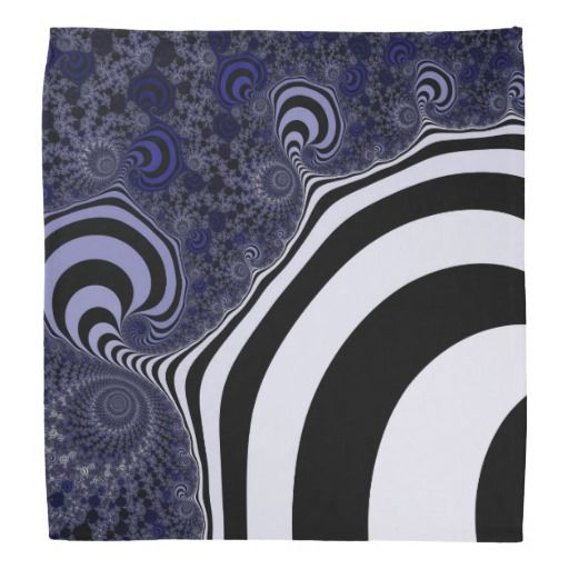 Blue and black striped fractal. bandana #bandana #customized, personalized, artwork, buy, sale, #giftideas, #zazzle, shop, discount, deals, gifts, shopping, abstract, antenna, art, artwork, bee, black, #blue, bright, cold colors, computer, cool colors, duotone, #fractal, fractal art, fractal artwork, generated, illustration, julia, light, locator, mandelbrot, pattern, paw, square, striped, suction, white, strip, dark, funny strips, modern