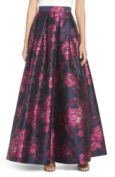 Eliza J Metallic Jacquard Ball Skirt available at #Nordstrom