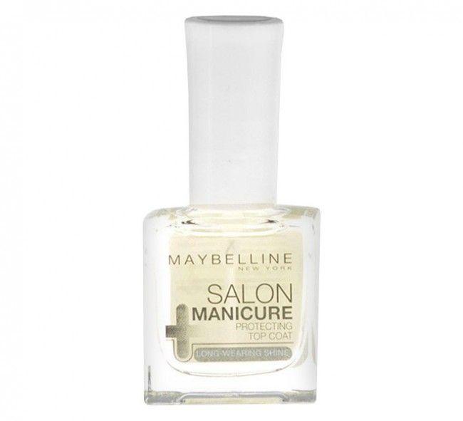 ΤοMaybelline Salon Manicure Top Coat προσθέτει λάμψη και διάρκεια στο χρώμα των νυχιών σας. Στεγνώνει γρήγορα, αφήνοντας ένα γυαλιστερό φινίρισμα στα νύχια σας.Περιεκτικότητα: 10 mL