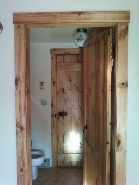 Rustic doors and trim for cabin