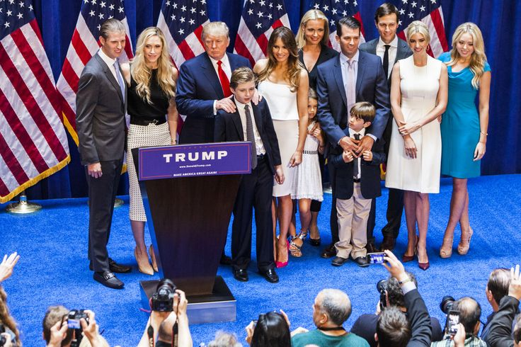 Donald Trump and his family.