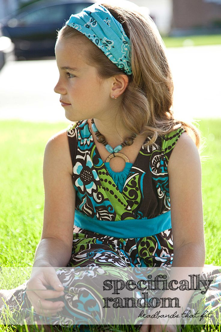 A comfortable headband that girls will be happy to wear. Made in a pre-tied style and available in a variety of styles from wide to full coverage.