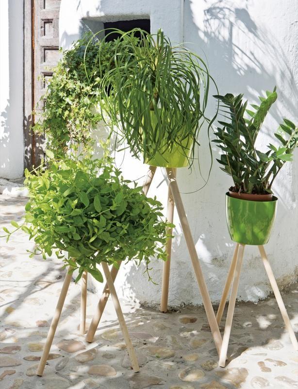 Hecho en casa: Un rincón vegetal #macetas #DIY