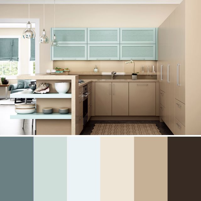 How to create a color scheme for your kitchen remodel dura supreme kitchen color palette - Color schemes for kitchens ...