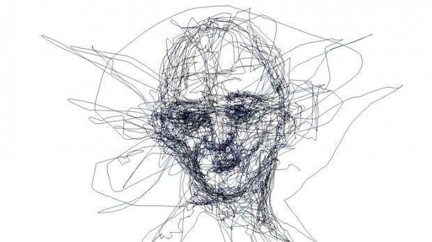 Graham Fink, artiste contemporain britannique, s'est associé à l'entreprise chinoise Tobii Technology pour développer un logiciel d'eyetracking qui lui permet de dessiner juste avec ses yeux.  Le mouvement des yeux est capté par des infra-rouges qui le retranscrivent sur un écran. Les portraits ainsi réalisés sont fait d'une seule ligne continue sans possibilité d'effacer. Graham Fink associe cette technique de dessin à l'écriture automatique.