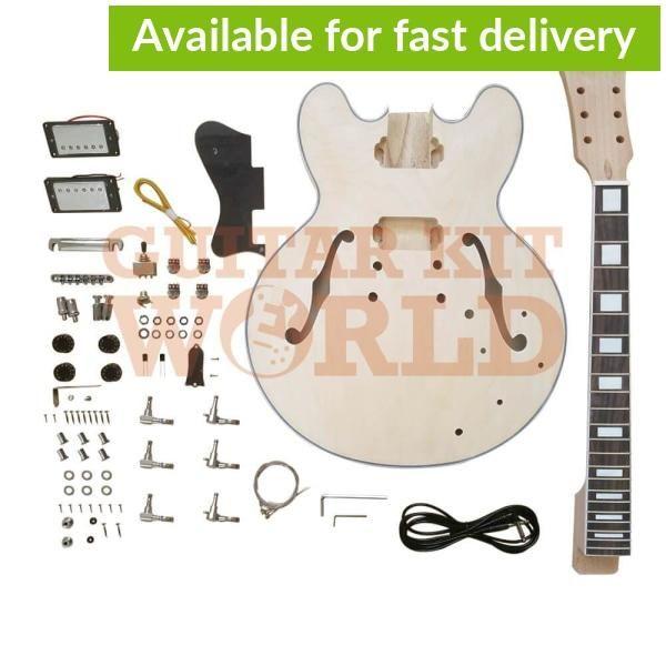 Semi-Hollow Body Guitar Kit - White Binding, Rosewood Fretboard and Ge —  Guitar Kit WorldAmerican ExpressApple PayMastercard…   Guitar kits, Bass  guitar kit, GuitarPinterest