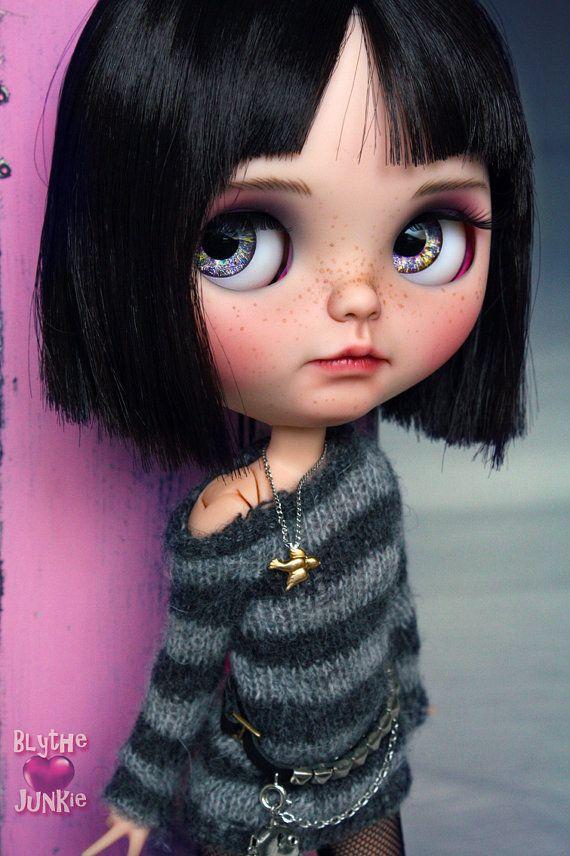 Caro. Blythe custom art ooak doll by blythejunkie on Etsy