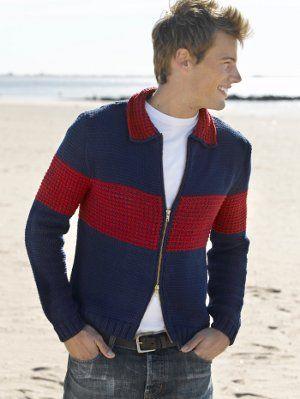 Cozy Colorblock Jacket | AllFreeKnitting.com